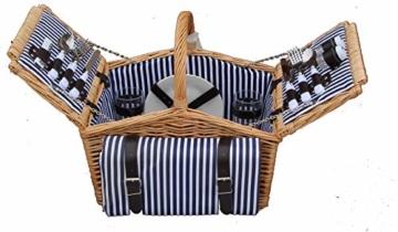 Dutch Mountains - Picknickkorb Deluxe 4-Personen 24-teilig mit Kleid – Ausverkauf - 5