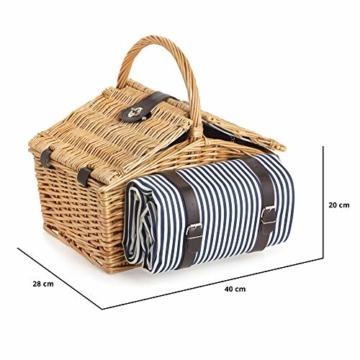 Dutch Mountains - Picknickkorb Deluxe 4-Personen 24-teilig mit Kleid – Ausverkauf - 6