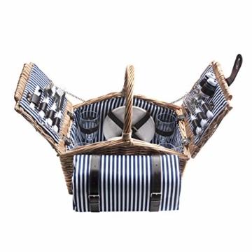 Dutch Mountains - Picknickkorb Deluxe 4-Personen 24-teilig mit Kleid – Ausverkauf - 7