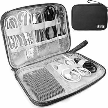 Elektronische Tasche Organizer universal travel Kabel Elektronik Zubehör Tasche Reise Organizer Case für Handy, Kabel, Festplatte, USB Sticks, SD Karten (Schwarz) - 1