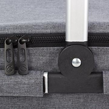 Eono by Amazon - 2-Personen-Picknickkorb 22L, isolierter Korb, Kühltasche für den Außenbereich, Dunkelgrau, M - 3