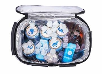 Eono by Amazon - 2-Personen-Picknickkorb 22L, isolierter Korb, Kühltasche für den Außenbereich, Dunkelgrau, M - 5
