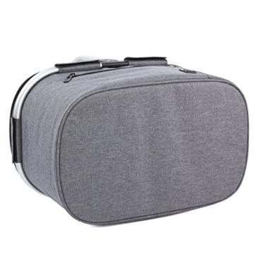 Eono by Amazon - 2-Personen-Picknickkorb 22L, isolierter Korb, Kühltasche für den Außenbereich, Dunkelgrau, M - 6