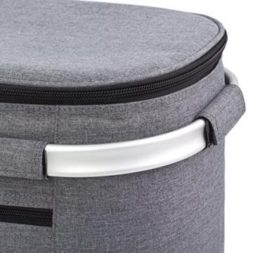 Eono by Amazon - 2-Personen-Picknickkorb 22L, isolierter Korb, Kühltasche für den Außenbereich, Dunkelgrau, M - 7