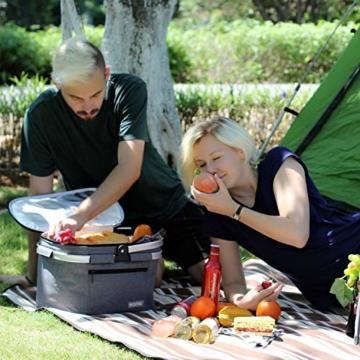 Eono by Amazon - 2-Personen-Picknickkorb 22L, isolierter Korb, Kühltasche für den Außenbereich, Dunkelgrau, M - 8