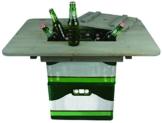 Esschert Design Bierkistentisch aus Kiefernholz, 78 x 57,4 x 11 cm, Partyzubehör, Party-Gartentisch - 1