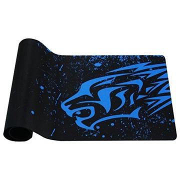 EXCO Extra Large 700 * 300 * 2 mm XL Gaming Matte Glatte Oberfläche für rutschfeste Gummimaus mit Designs für Spieler und Büroarbeit, (XL Blue Leopard) - 5