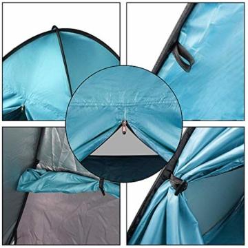 FBSPORT Strandzelt, Extra Leicht Automatik Strandmuschel mit Boden Sonnenschutz UV-Schutz, Pop up Familie Tragbares Strand-Zelt, Outdoor Beach Tent Tragbar Wurfzelt - 6