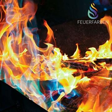Feuerfarben Pulver für buntes Feuer 250 Gramm für Feuerstellen, Kamin, Ofen, Lagerfeuer oder für Outdoor-Events - 2