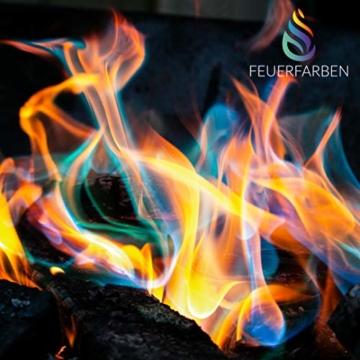 Feuerfarben Pulver für buntes Feuer 250 Gramm für Feuerstellen, Kamin, Ofen, Lagerfeuer oder für Outdoor-Events - 4