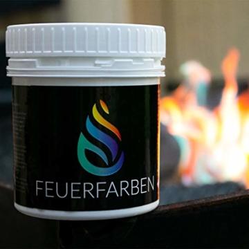 Feuerfarben Pulver für buntes Feuer 250 Gramm für Feuerstellen, Kamin, Ofen, Lagerfeuer oder für Outdoor-Events - 6