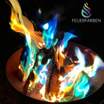 Feuerfarben Pulver für buntes Feuer 250 Gramm für Feuerstellen, Kamin, Ofen, Lagerfeuer oder für Outdoor-Events - 8