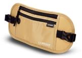 Flache Bauchtasche Hüfttasche mit RFID-Blockierung und 1 Hüftgurt für Damen und Herren - enganliegend und wasserdicht - Geldgürtel zum Sport, Reisen und Joggen | VAN BEEKEN Money Belt Beige - 1
