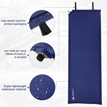 Forceatt Isomatte Selbstaufblasend - 5cm Dickes Isomatte Camping und rutschfeste Partikel Auf der Rückseite Ideal für Rucksacktouren und Camping,(Ultraleicht Kleines Packmaß). - 2