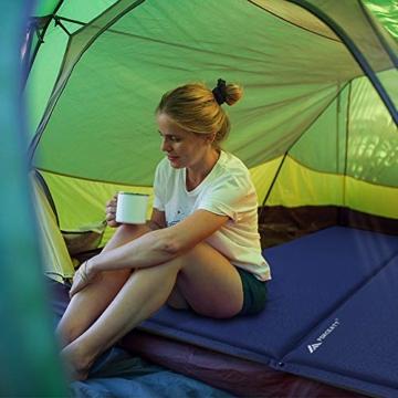 Forceatt Isomatte Selbstaufblasend - 5cm Dickes Isomatte Camping und rutschfeste Partikel Auf der Rückseite Ideal für Rucksacktouren und Camping,(Ultraleicht Kleines Packmaß). - 4
