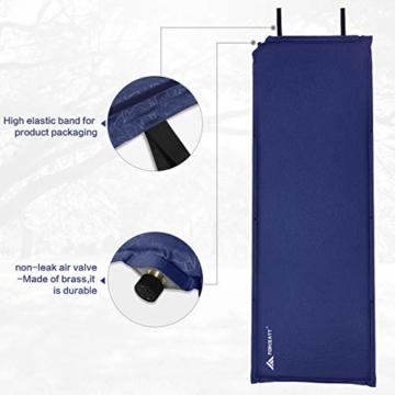 Forceatt Isomatte Selbstaufblasend - 5cm Dickes Isomatte Camping und rutschfeste Partikel Auf der Rückseite Ideal für Rucksacktouren und Camping,(Ultraleicht Kleines Packmaß). - 7