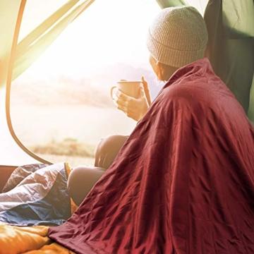 Forceatt Picknickdecke wasserdichte, Outdoor Picknick Decke 140cm * 200cm, Schnelltrocknend und Leicht zu Reinigen, Sehr Geeignet für Camping, Outdoor, Picknick, Yoga, Reisen - 6