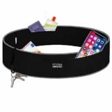 Formbelt® Plus Sport-Bauchtasche mit Reißverschluss, Laufgürtel für Handy Smartphone, elastische Lauftasche iPhone 8 8 Plus X 7 Plus + Samsung Galaxy S-7 S8 S9 + Plus Reise-Hüfttasche schwarz S - 1