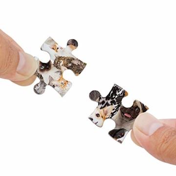 Gadget Storm Unlösbares Puzzle mit Hunde & Katzen Motiv, 500 beidseitig Bedruckte und Fast identische Teile, Knobelspiel ab 9 Jahren - 2