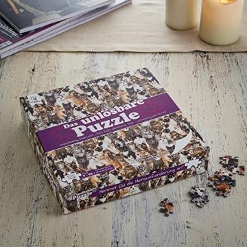 Gadget Storm Unlösbares Puzzle mit Hunde & Katzen Motiv, 500 beidseitig Bedruckte und Fast identische Teile, Knobelspiel ab 9 Jahren - 4