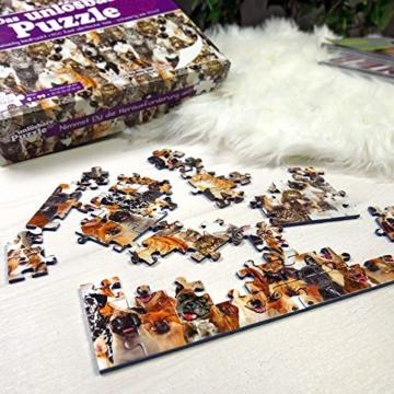 Gadget Storm Unlösbares Puzzle mit Hunde & Katzen Motiv, 500 beidseitig Bedruckte und Fast identische Teile, Knobelspiel ab 9 Jahren - 5