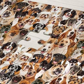 Gadget Storm Unlösbares Puzzle mit Hunde & Katzen Motiv, 500 beidseitig Bedruckte und Fast identische Teile, Knobelspiel ab 9 Jahren - 6