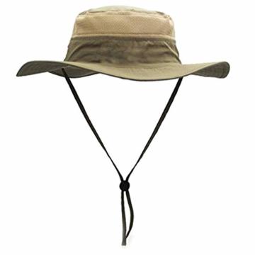 GG ST Sonnenhut Herren Damen UPF 50+ Outdoor UV Schutz Mesh Summer Hut Hiking Fischerhut Strand Faltbar Safari Buschhüte Cap - 1