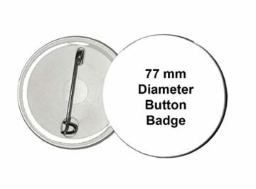 Gifts & Gadgets Co. Button Katze Yin Yang Numerisch 77 mm rund Revers - 5
