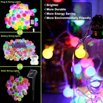 Globe Lichterkette Bunt, BrizLabs 10M 100er LED Kugel Lichterkette Innen Außen 8 Modi Strombetrieben RGB Lichterkette für Weihnachten Party Garten Hochzeit Balkon Deko, Mehrfarbig - 2
