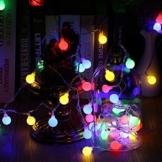 Globe Lichterkette Bunt, BrizLabs 10M 100er LED Kugel Lichterkette Innen Außen 8 Modi Strombetrieben RGB Lichterkette für Weihnachten Party Garten Hochzeit Balkon Deko, Mehrfarbig - 1