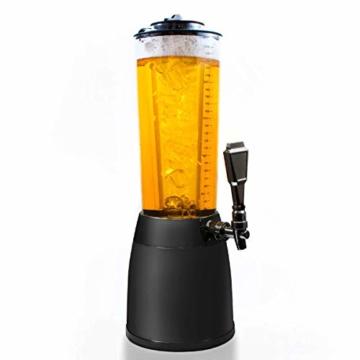 GOODS+GADGETS 4,0L Biersäule Zapfsäule Kult Biertower Trinksäule Getränkespender Getränkesäule mit 1,3L Eiskühlung - 1
