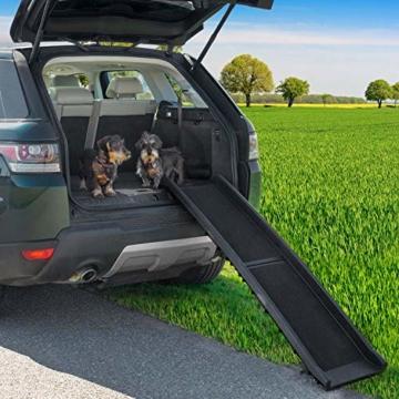 GOODS+GADGETS Hunderampe klappbar Hundetreppe Hunde Rampe Einstiegshilfe für Kofferraum 156 x 40 cm - 5