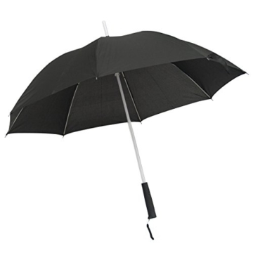 GOODS+GADGETS Leuchtender LED Regenschirm mit 7 Farben und integrierter LED Taschenlampe - 2