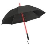 GOODS+GADGETS Leuchtender LED Regenschirm mit 7 Farben und integrierter LED Taschenlampe - 1