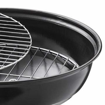 GOODS+GADGETS Micro BBQ Kugelgrill kompakter Reise Holzkohle-Grill Tischgrill Edelstahl emailliert 38cm - Schwarz - 5