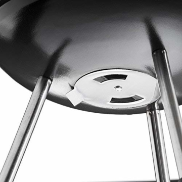 GOODS+GADGETS Micro BBQ Kugelgrill kompakter Reise Holzkohle-Grill Tischgrill Edelstahl emailliert 38cm - Schwarz - 7