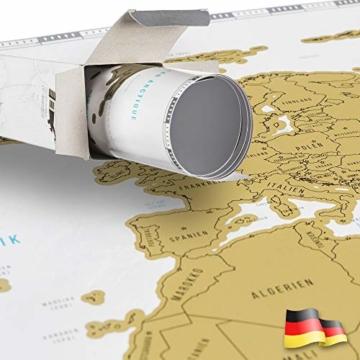 GOODS+GADGETS Scrape Off World Map Gold - XXL Weltkarte zum frei Rubbeln 82 x 45 cm - Rubbel Landkarte Deluxe Wandbild - 4