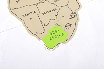 GOODS+GADGETS Scrape Off World Map Gold - XXL Weltkarte zum frei Rubbeln 82 x 45 cm - Rubbel Landkarte Deluxe Wandbild - 6