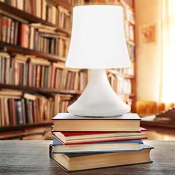GOODS+GADGETS wasserdichte LED Tischlampe - Outdoor Lampe mit Fernbedienung und Farbwechel - kabellos mit Akku - 3