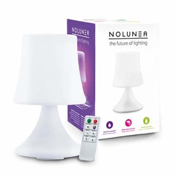 GOODS+GADGETS wasserdichte LED Tischlampe - Outdoor Lampe mit Fernbedienung und Farbwechel - kabellos mit Akku - 1