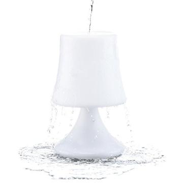 GOODS+GADGETS wasserdichte LED Tischlampe - Outdoor Lampe mit Fernbedienung und Farbwechel - kabellos mit Akku - 7
