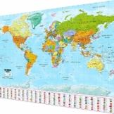 GOODS+GADGETS Weltkarte XXL Poster im Riesenformat mit Fahnen & Flaggen - Top Qualität (140x100cm) - 1