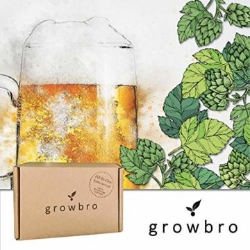 growbro Hopfen Anzuchtset, Der Weg zu deinem eigenen Bier, Geschenk für Männer, Freunde und Papa, Geburtstagsgeschenk, Gastgeschenk, Geschenke zum Grillen, Männer Gadget - 1