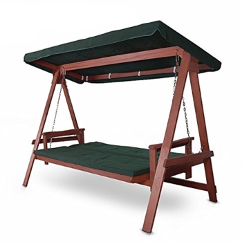 Hecht Hollywoodschaukel Bahara Lux Garten-Schaukel Meranti-Holz 4-sitzer (ca. 235 x 120 x 178 cm (BxTxH)) - 2