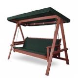 Hecht Hollywoodschaukel Bahara Lux Garten-Schaukel Meranti-Holz 4-sitzer (ca. 235 x 120 x 178 cm (BxTxH)) - 1