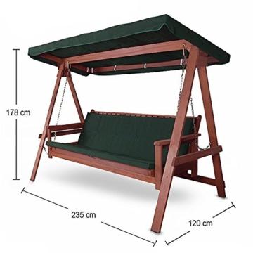 Hecht Hollywoodschaukel Bahara Lux Garten-Schaukel Meranti-Holz 4-sitzer (ca. 235 x 120 x 178 cm (BxTxH)) - 3