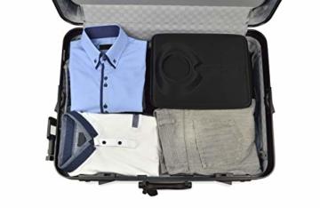 Hemdentasche, mit falthilfe für EIN knitterfreies Hemd, in Einer Hartschale für die Reise im Koffer, Trolley, Kleidersack, Reisetasche, Rucksack, Hardcase für Herren - 3