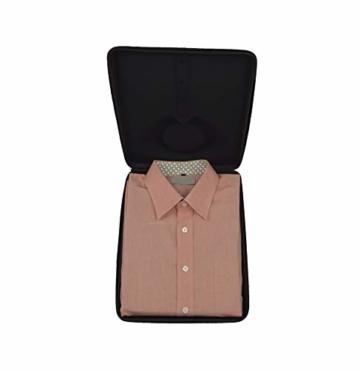 Hemdentasche, mit falthilfe für EIN knitterfreies Hemd, in Einer Hartschale für die Reise im Koffer, Trolley, Kleidersack, Reisetasche, Rucksack, Hardcase für Herren - 5