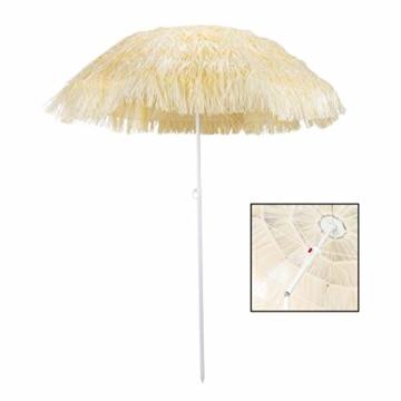 HI Hawaii Schirm Sonnenschirm Strandschirm Gartenschirm Balkonschirm 180 cm Beige - 2