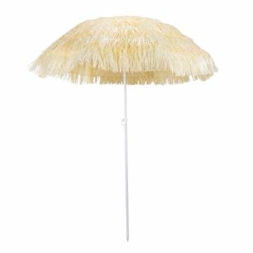 HI Hawaii Schirm Sonnenschirm Strandschirm Gartenschirm Balkonschirm 180 cm Beige - 1